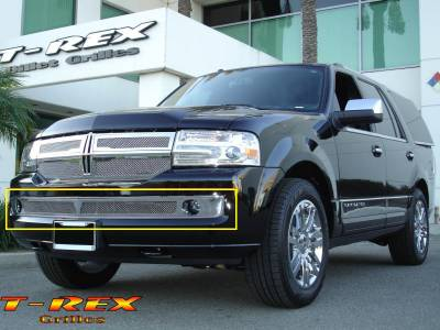 T-Rex - Lincoln Navigator T-Rex Upper Class Polished Stainless Bumper Mesh Grille - 55712