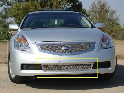 T-Rex - Nissan Altima T-Rex Upper Class Polished Stainless Bumper Mesh Grille - 55769