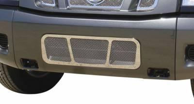 T-Rex - Nissan Titan T-Rex Upper Class Polished Stainless Bumper Mesh Grille - 55780