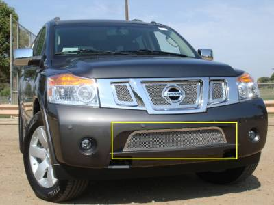 T-Rex - Nissan Armada T-Rex Upper Class Polished Stainless Bumper Mesh Grille - 55782