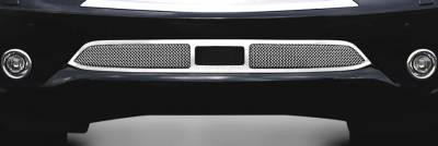 T-Rex - Infiniti QX56 T-Rex Upper Class Mesh Bumper Grille - Overlay with Cruise Sensor Opening - Polished - 55792