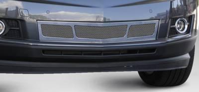 T-Rex - Cadillac SRX T-Rex Upper Class Mesh Bumper Grille - Overlay - 3 Window Design - Chrome - 57187
