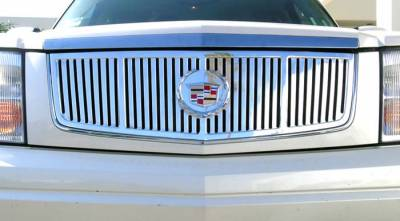T-Rex - Cadillac Escalade T-Rex Vertical Platinum Series Grille - Polished Aluminum CNC Cut - 61181