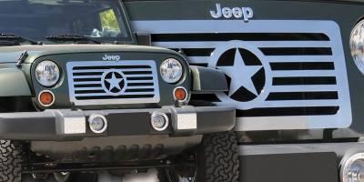 T-Rex - Jeep Wrangler T-Rex Custom Series Stainless Grille - Center Star Design - 66481