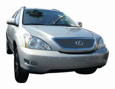 T-Rex - Lexus RX300 T-Rex Hybrid Series Grille with Wire Mesh - Polished - 70640