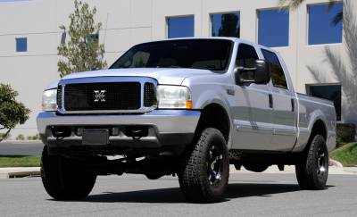 T-Rex - Ford Superduty T-Rex X-Metal Series Grille Assembly - Chrome Shell with All Black X-Metal Grille Installed - 6705701