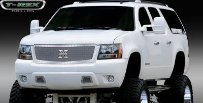 T-Rex - Chevrolet Tahoe T-Rex X-Metal Series Studded Main Grille - Polished Stainless Steel - Custom - 1PC Style - 6710520