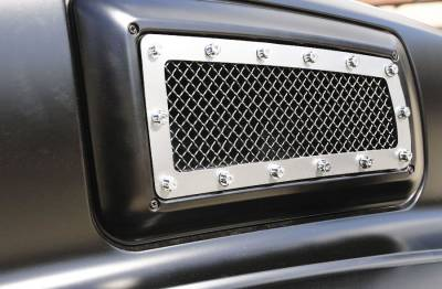 T-Rex - Chevrolet Kodiak T-Rex X-Metal Series Side Vent Studded Grille - Polished Stainless Steel - 6710840