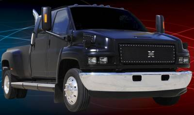 T-Rex - Chevrolet Kodiak T-Rex X-Metal Series Studded Main Grille - All Black - 1PC Style - 6710871