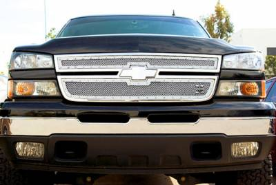T-Rex - Chevrolet Silverado T-Rex X-Metal Series Studded Main Grille - Polished Stainless Steel - 2PC Style - 6711060