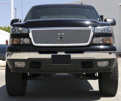T-Rex - Chevrolet Silverado T-Rex X-Metal Series Studded Main Grille - Polished Stainless Steel - Custom - 1PC - 6711070