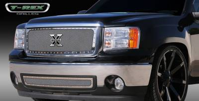 T-Rex - GMC Sierra T-Rex X-Metal Series Studded Main Grille - Polished Stainless Steel - 6712050