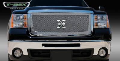 T-Rex - GMC Sierra T-Rex X-Metal Series Studded Main Grille - Polished Stainless Steel - 6712060