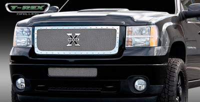 T-Rex - GMC Sierra T-Rex X-Metal Series Studded Main Grille - Polished Stainless Steel - 6712090