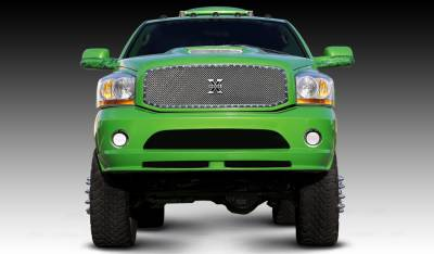 T-Rex - Dodge Ram T-Rex X-Metal Series Studded Main Grille - Custom Full Opening - Polished Stainless Steel - 1PC - 6714590