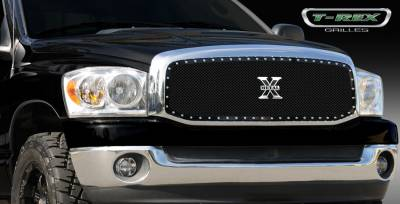 T-Rex - Dodge Ram T-Rex X-Metal Series Studded Main Grille - Custom Full Opening - All Black - 1PC - 6714591