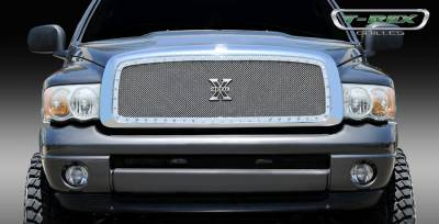T-Rex - Dodge Ram T-Rex X-Metal Series Studded Main Grille - Custom Full Opening - Polished Stainless Steel - 1PC - 6714610