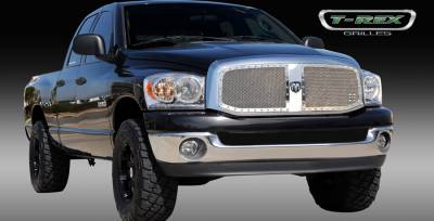 T-Rex - Dodge Ram T-Rex X-Metal Series Studded Main Grille - Custom 2PC Opening - Polished Stainless Steel - 6714670