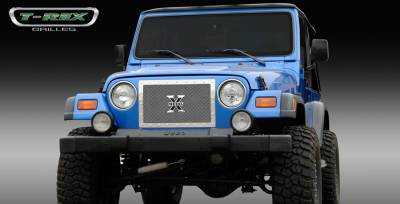 T-Rex - Jeep Wrangler T-Rex X-Metal Series Studded Main Grille - Polished Stainless Steel - 1PC Custom - 6714900