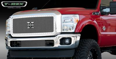 T-Rex - Ford Superduty T-Rex X-Metal Series Studded Main Grille - Polished Stainless Steel - 1PC - 6715460