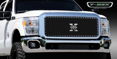 T-Rex - Ford Superduty T-Rex X-Metal Series Studded Main Grille - Black - 1PC - 6715461