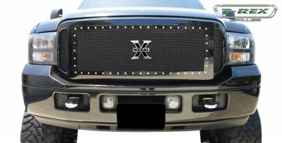 T-Rex - Ford Superduty T-Rex X-Metal Series Studded Main Grille - All Black - 3PC - 6715611