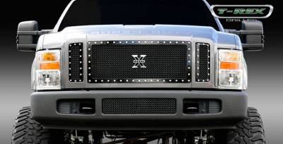 T-Rex - Ford Superduty T-Rex X-Metal Series Studded Main Grille - All Black - 3PC - 6715631