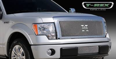 T-Rex - Ford F150 T-Rex X-Metal Series Studded Main Grille - Custom Full Opening - Polished Stainless Steel - 1PC - 6715680
