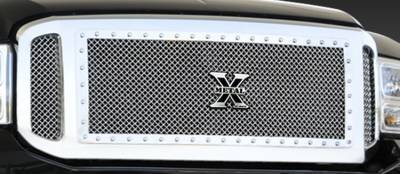 T-Rex - Ford Superduty T-Rex X-Metal Series Studded Main Grille - Polished Stainless Steel - 3PC - 6715700