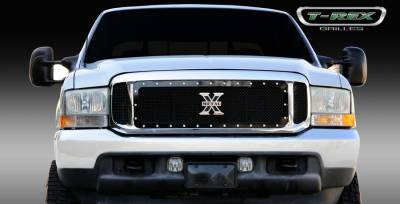 T-Rex - Ford Superduty T-Rex X-Metal Series Studded Main Grille - All Black - 3PC - 6715701