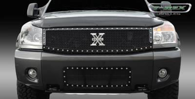 T-Rex - Nissan Titan T-Rex X-Metal Series Studded Main Grille - All Black - Custom 1PC - 6717791