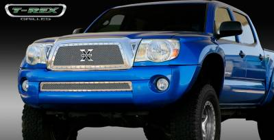 T-Rex - Toyota Tacoma T-Rex X-Metal Series Studded Main Grille - Polished Stainless Steel - 6718950