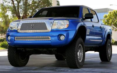 T-Rex - Toyota Tacoma T-Rex X-Metal Series Studded Main Grille - Polished Stainless Steel - 6719360