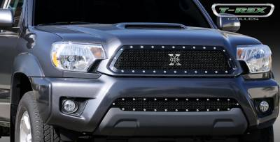 T-Rex - Toyota Tacoma T-Rex X-Metal Series Studded Main Grille - All Black - 6719381