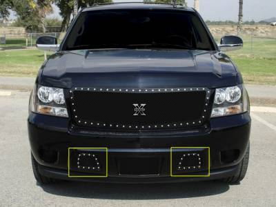 T-Rex - Chevrolet Tahoe T-Rex X-Metal Series Studded Bumper Grille - All Black - 6720511