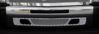 T-Rex - Chevrolet Silverado T-Rex X-Metal Series Studded Bumper Grille - Polished Stainless Steel - 6721100