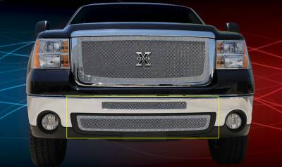 T-Rex - GMC Sierra T-Rex X-Metal Series Studded Bumper Grille - Polished Stainless Steel - 2PC - 6722060