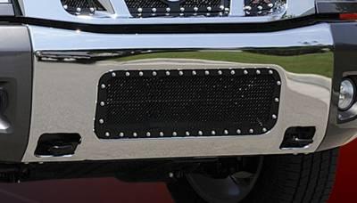 T-Rex - Nissan Titan T-Rex X-Metal Series Studded Bumper Grille - All Black - 6727801