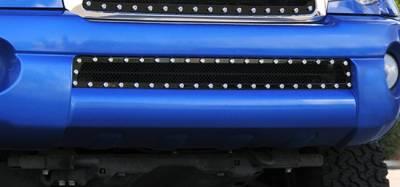 T-Rex - Toyota Tacoma T-Rex X-Metal Series Studded Bumper Grille - All Black - 6728951