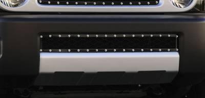 T-Rex - Toyota FJ Cruiser T-Rex X-Metal Series Studded Bumper Grille - All Black - 6729321