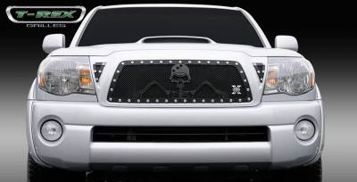 T-Rex - Toyota Tacoma T-Rex Urban Assault Grunt Studded Main Grille with Soldier - Black OPS Flat Black - 7118956
