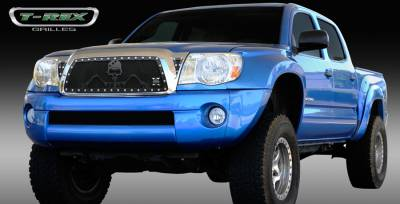 T-Rex - Toyota Tacoma T-Rex Urban Assault Grunt Studded Main Grille with Soldier - Black OPS Flat Black - 7119366