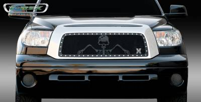 T-Rex - Toyota Tundra T-Rex Urban Assault Grunt Studded Main Grille with Soldier - Black OPS Flat Black - 7119596