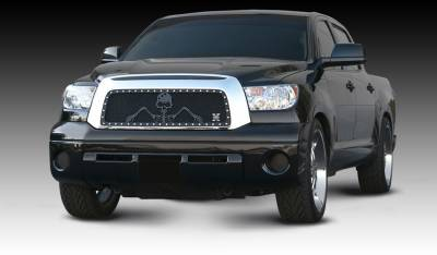 T-Rex - Toyota Tundra T-Rex Urban Assault Grunt Studded Main Grille with Soldier - Black OPS Flat Black - 7119636