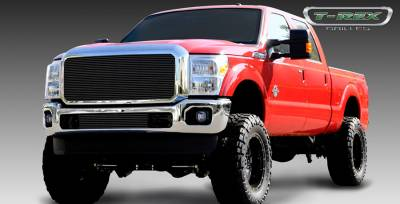 T-Rex - Ford Superduty T-Rex Billet Grille Insert with Optional Logo Plate - All Black Powdercoat - 1PC - 20546B