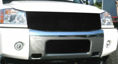 T-Rex - Nissan Titan T-Rex Billet Grille Insert - All Black - 22 Bars - 1PC - 20780B