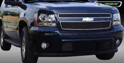 T-Rex - Chevrolet Tahoe T-Rex Billet Grille Overlay - Bolt On - All Black - 2PC - 21051B
