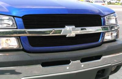 T-Rex - Chevrolet Silverado T-Rex Billet Grille Overlay - Bolt On & Insert - All Black - 2PC - 21100B