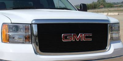 T-Rex - GMC Sierra T-Rex Billet Grille Insert & Overlay - Bolt On - 27 Bars - All Black - 21206B