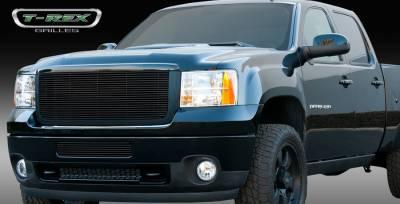 T-Rex - GMC Sierra T-Rex Billet Grille Insert & Overlay - Bolt On - All Black - 21209B